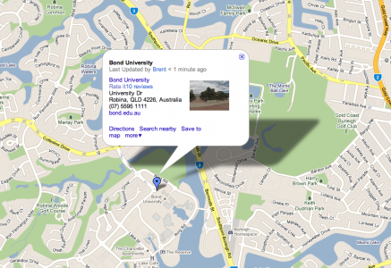 Google Map for Bond University